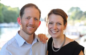 Daniel Lees and Martina Lees, the husband-and-wife authors of The Accidental Landlord: The Keys To Letting Out Your Own Property With Complete Peace of Mind, pictured in Richmond, where Daniel's lettings agency, Swift Property, is based. The couple live in nearby Twickenham