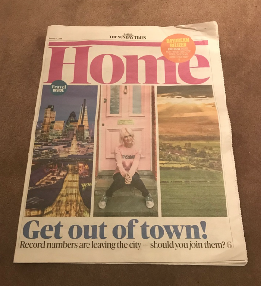 Sunday Times – Get out of town!
