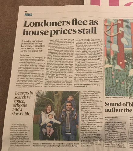 Sunday Times – Londoners flee